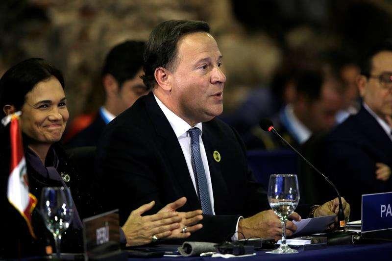 Imagen de archivo del presidente de Panamá, Juan Carlos Varela. EFEArchivo