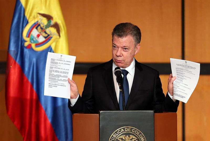 En la imagen un registro de Juan Manuel Santos, presidente de Colombia. EFEArchivo
