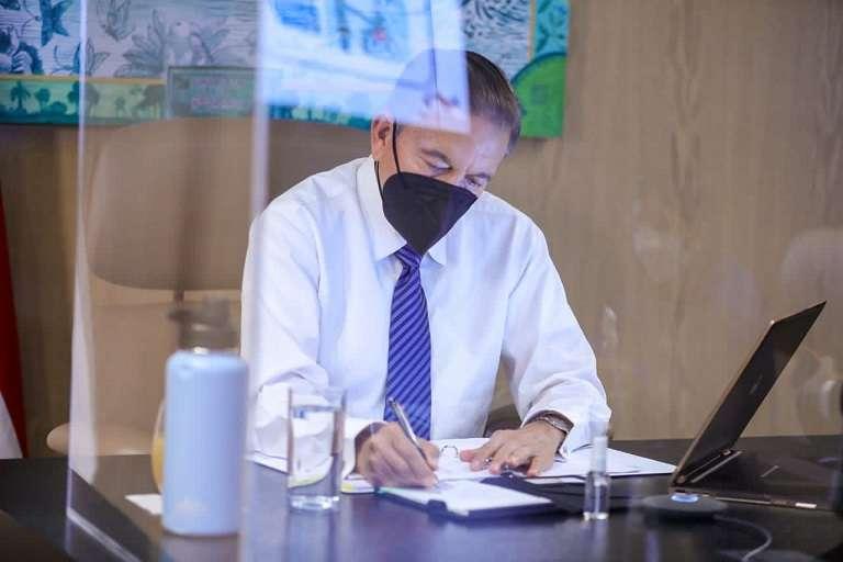 En la imagen el presidente de la República, Laurentino Cohen. Foto: Archivo