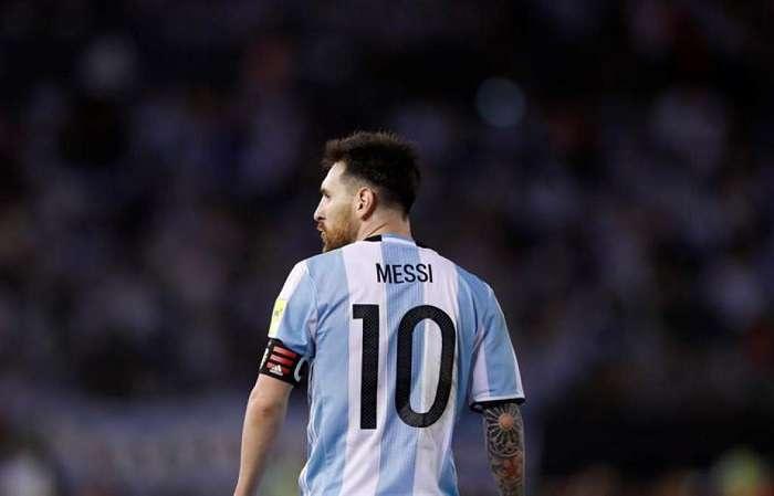 Messi durante un partido con Argentina en el mundial de Rusia 2018./EFE