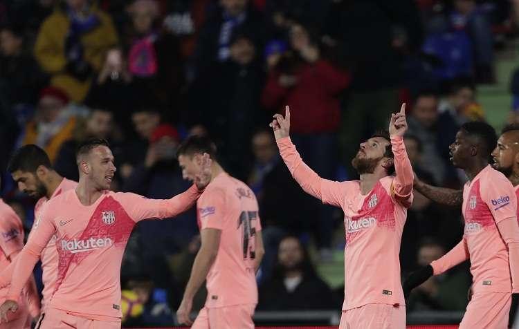 Lionel Messi celebra su anotación. Foto: EFE
