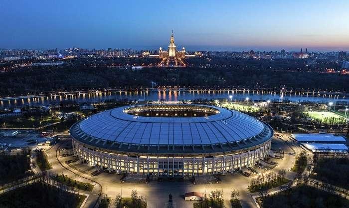 Luzhniki, estadio del pitazo inicial /AP