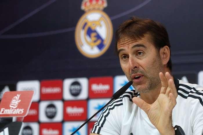El entrenador del Real Madrid, Julen Lopetegui, durante una rueda de prensa. EFE/Archivo