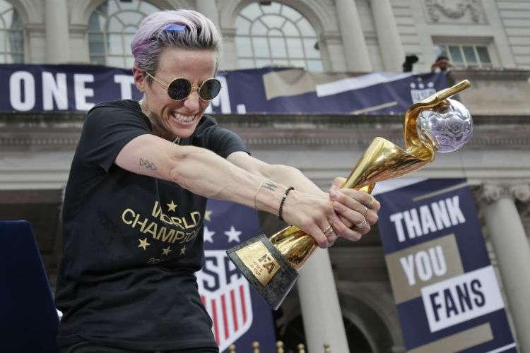 Megan Rapinoe, estrella mundial del fútbol femenino. Foto: AP