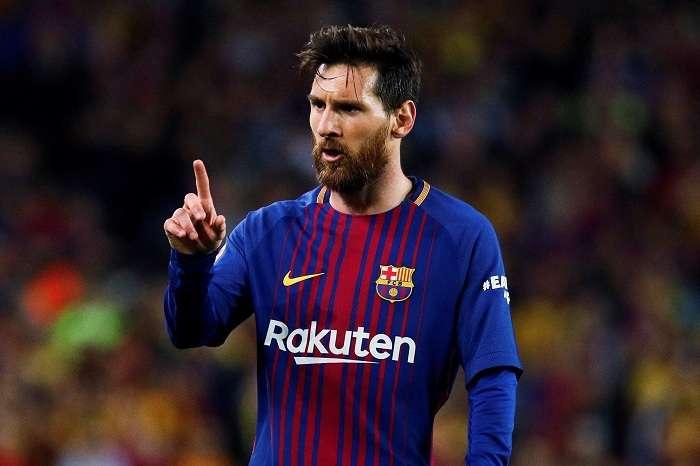 Lionel Messi del Barcelona durante un partido de liga ante el Real Madrid.