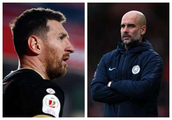 Lionel Messi (izq.) jugará por el PSG, mientras que Joseph Guardiola es el director técnico del Manchester City.