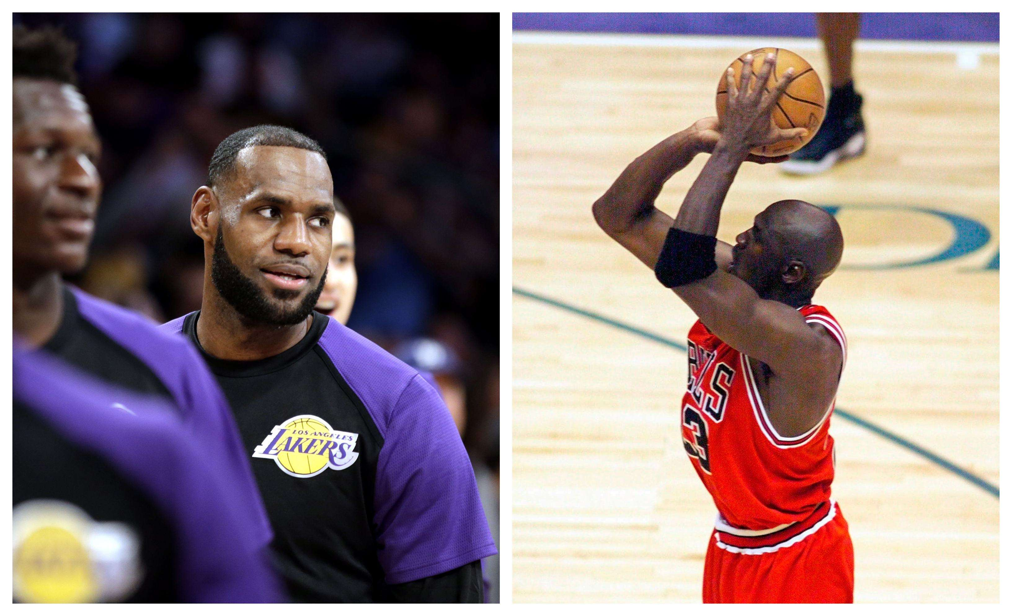LeBron James y Michael Jordan /AP
