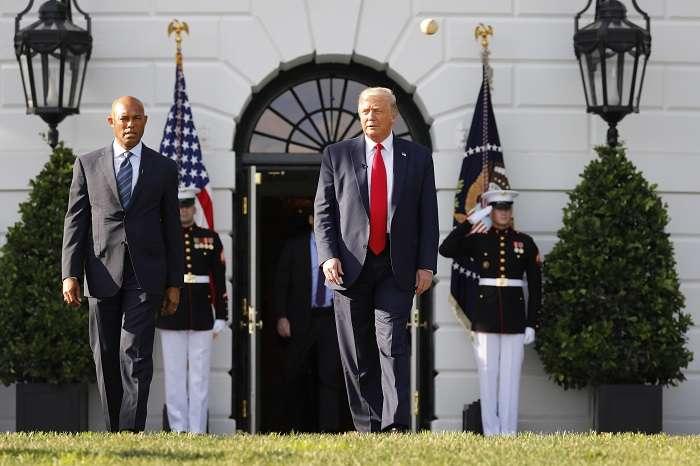 Mariano y Trump hoy, en la Casa Blanca.