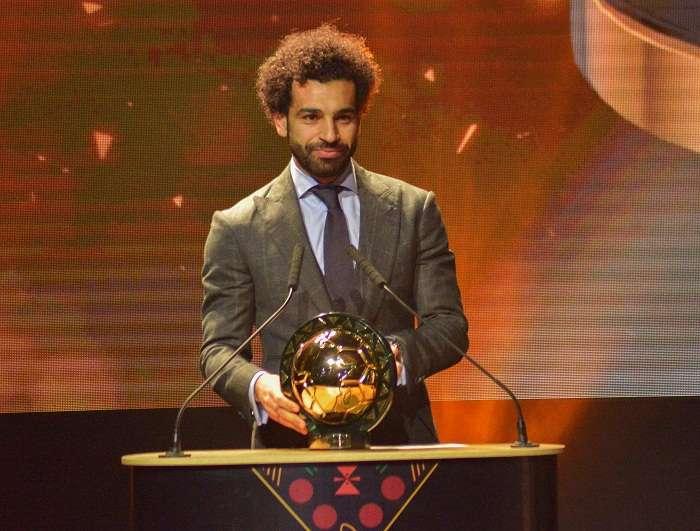 Mohamed Salah habla tras recibir el premio a Jugador del Año de la Confederación Africana de Fútbol (CAF) . Foto: EFE