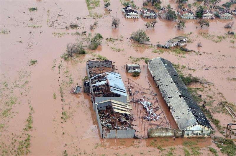 Vista aérea de los daños causados por las inundaciones después de que el ciclón Idai tocó tierra en la provincia de Sofala, (Mozambique Central) este jueves.EFE
