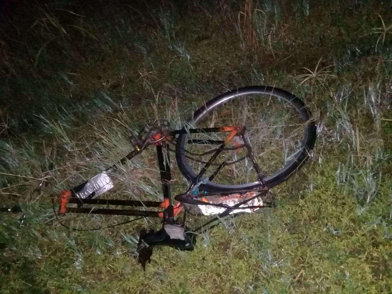 La bicicleta quedó partida en varios pedazos. Foto: Mayra Madrid