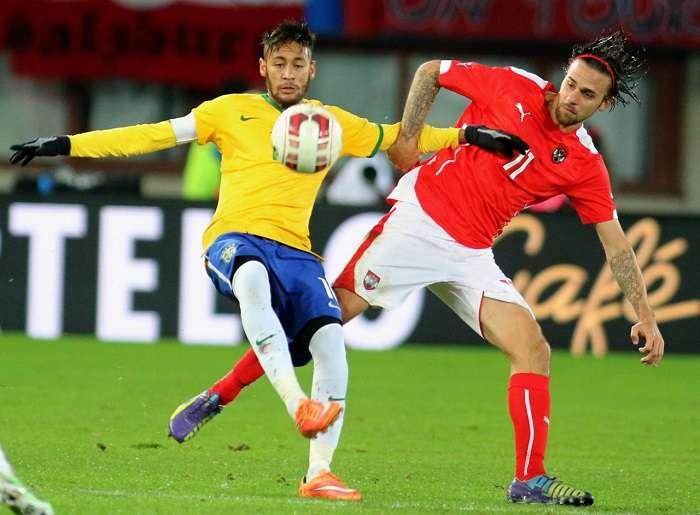 Neymar Jr. tuvo un gran desempeño frente a Austria. /AP