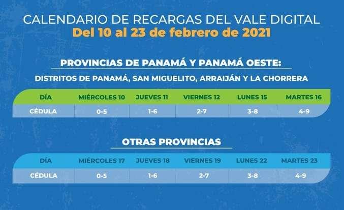 Un total de 736,528 panameños recibirán su transferencia del vale digital.