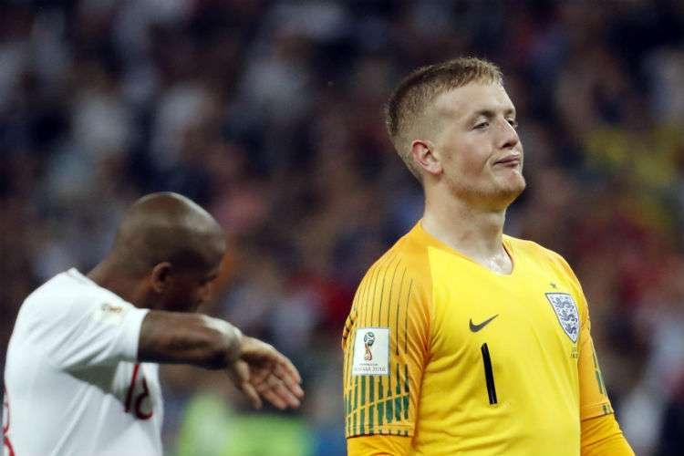 Jordan Pickford (der.) tuvo una destacada participación en el Mundial. Foto: AP