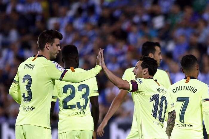 Los futbolistas del Barcelona FC esperan volver mañana a la senda del triunfo. /AP