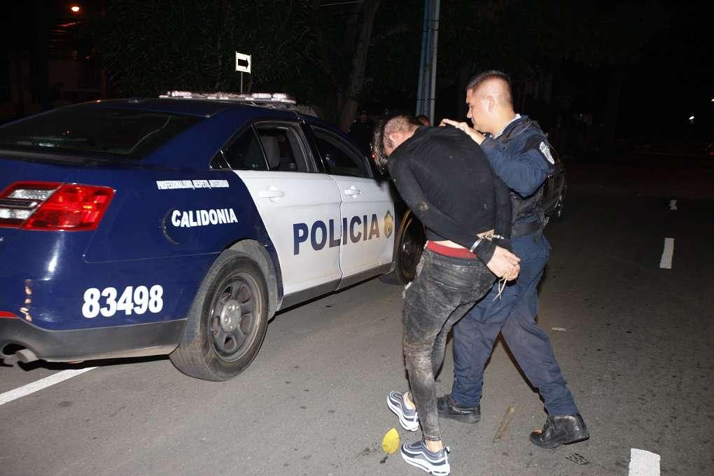 Vista general del momento de la captura del delincuente vinculado al caso.  Foto: Alexander Santamaría