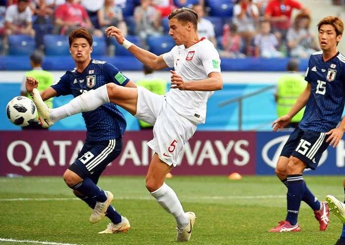 Jan Bednarek anota el gol del triunfo de Polonia./EFE