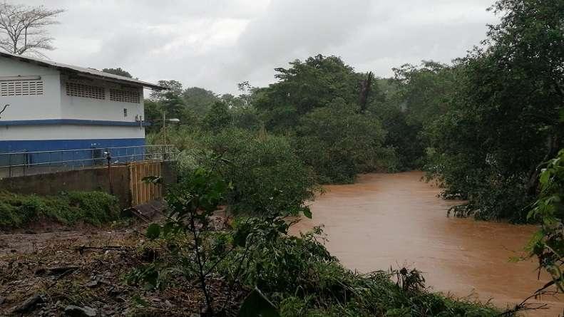 Vista general de la toma de agua cruda de la Potabilizadora Jaime Díaz Quintero, de La Chorrera .