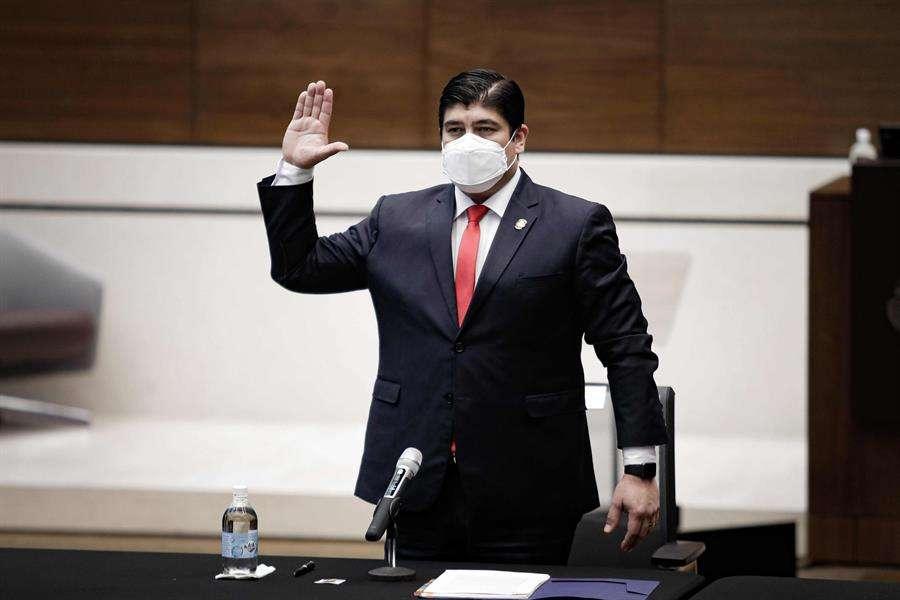 El presidente de Costa Rica, Carlos Alvarado. EFE
