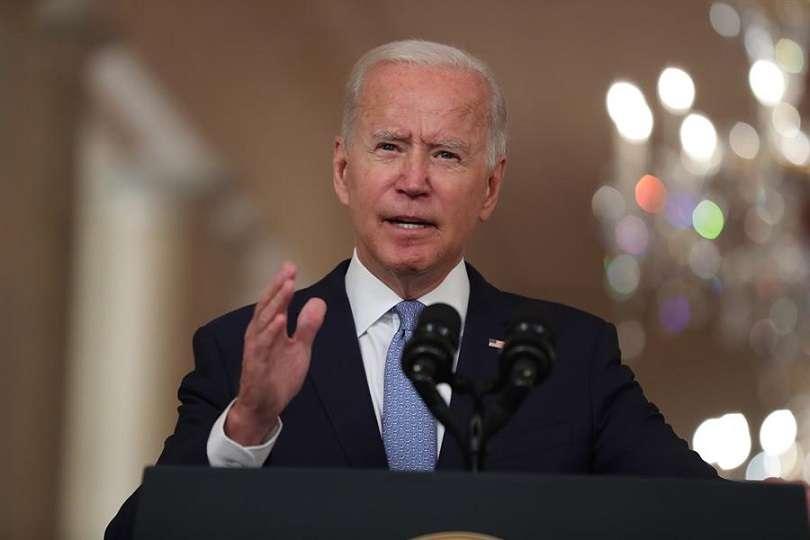 El presidente de EE.UU., Joe Biden, habla, este 31 de agosto de 2021, sobre la misión de evacuación de Afganista, desde la Casa Blanca, en Washington. EFE