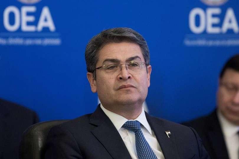 En la imagen el presidente de Honduras, Juan Orlando Hernández. EFE