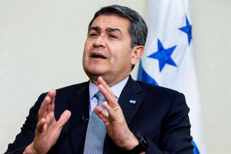 Imagen de archivo del presidente de Honduras, Juan Orlando Hernández. EFE