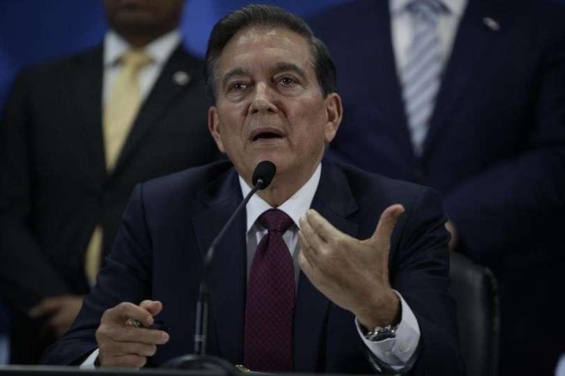 """El presidente de Panamá, Laurentino Cortizo, expresó este domingo sus """"más sentidas condolencias a los familiares"""" y a Uruguay por el reciente fallecimiento del exmandatario uruguayo Tabaré Vázquez. EFE"""