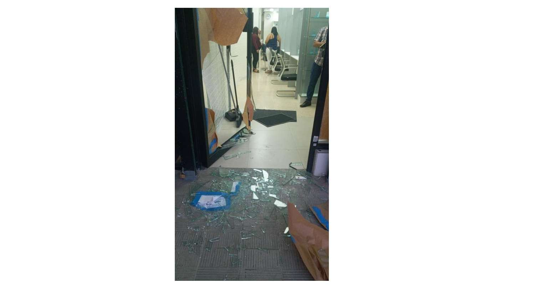 Las primeras imágenes del local donde delincuentes intentaron robar