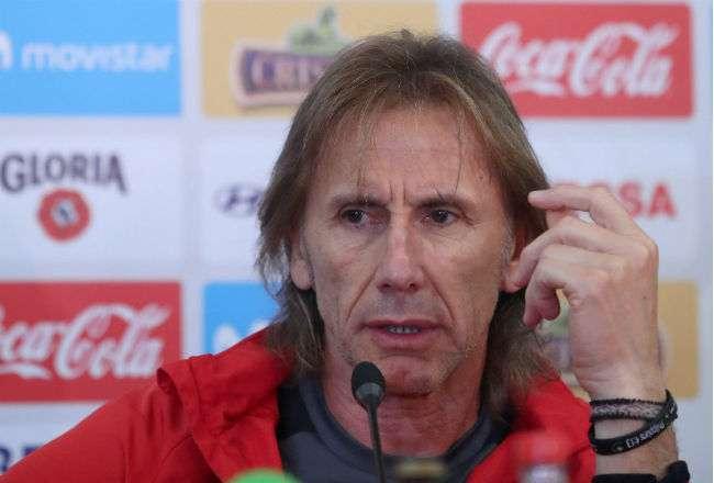El entrenador de la selección peruana de fútbol, el argentino Ricardo Gareca. Foto: EFE