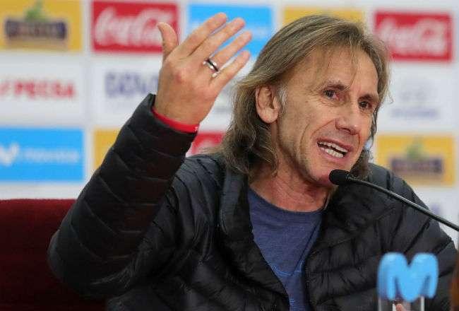 El entrenador de la selección peruana, el argentino Ricardo Gareca. Foto: EFE