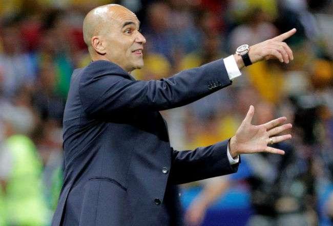 El técnico de la selección belga de fútbol el español Roberto Martínez. Foto:EFE
