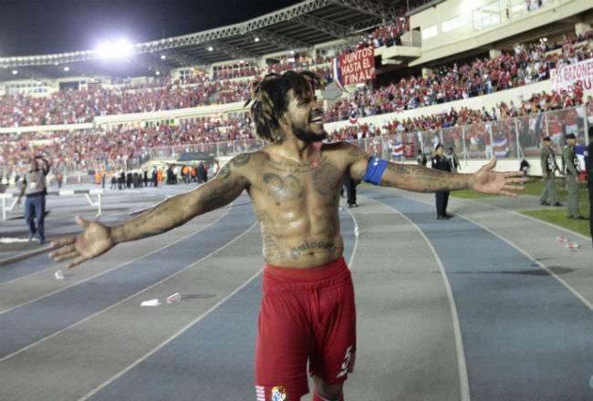 Román Torres, jugado de la selección de Panamá. Foto: Anayansi Gamez