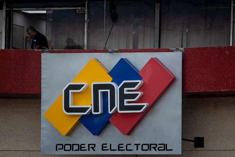En la fotografía se observa una de las sedes del Consejo Nacional Electoral (CNE), en Caracas (Venezuela). EFE
