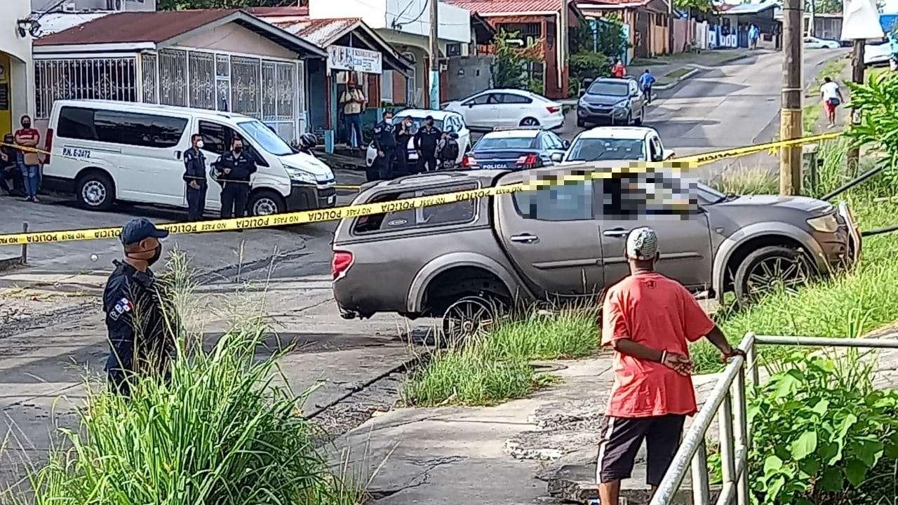 Homicidio en San Miguelito.  ( Foto: Leandro Ortiz)