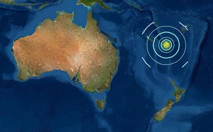 El sismo se localizó a unos 413 kilómetros al oeste de Vao, en Nueva Caledonia y a 417 al noreste de Tafao, en Vanuatu. EFE