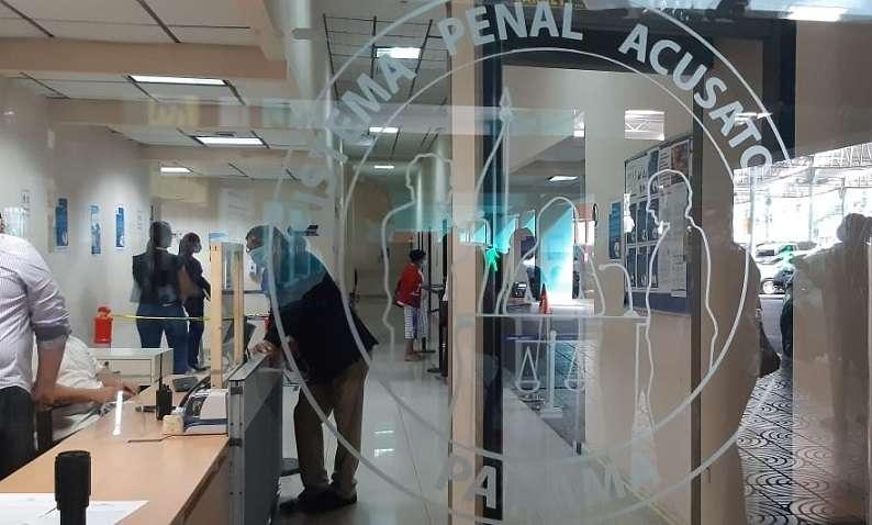 Vista general de la sede del Sistema Penal Acusatorio en Plaza Ágora.