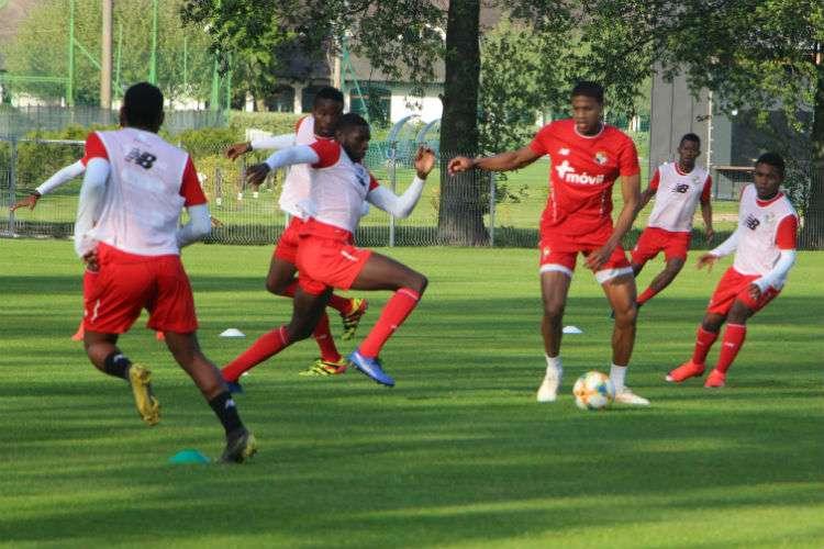 Entrenamiento de hoy lunes de la Selección Sub-20 de Fútbol de Panamá. Foto: Fepafut