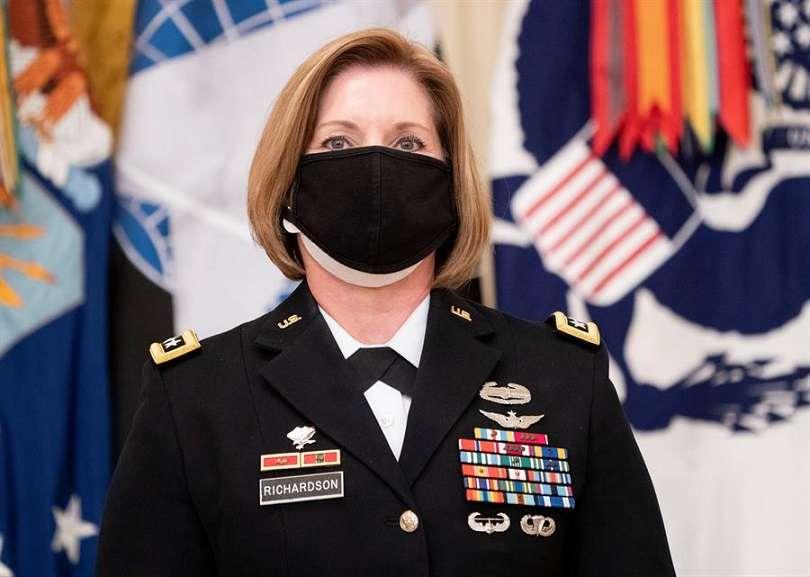 La teniente general Laura Richardson, nominada por el presidente de Estados Unidos para que sea la jefa del Comando Sur. EFE