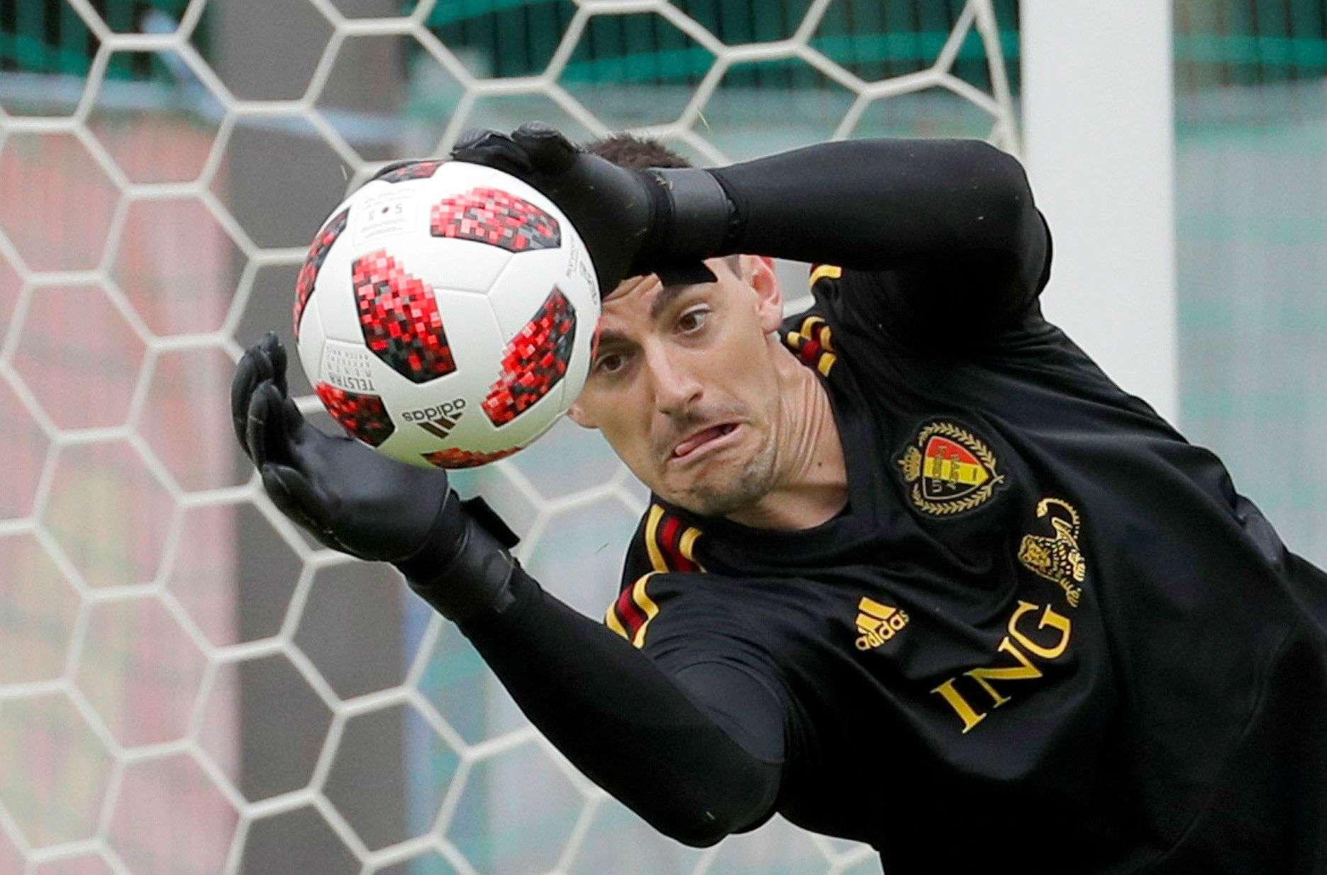 El guardameta de la selección de Bélgica, Thibaut Courtois. Foto:EFE