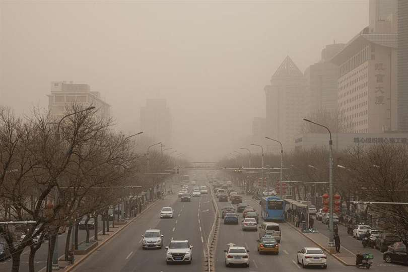 La tormenta agravó el índice de calidad del aire pequinés, que superó los 2.000 puntos. EFE