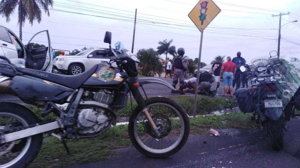 Vista general de la escena del accidente. Foto: Diómedes Sánchez
