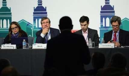 Los integrantes de la Asamblea General de la Sociedad Interamericana de Prensa (SIP).  /  Foto: EFE