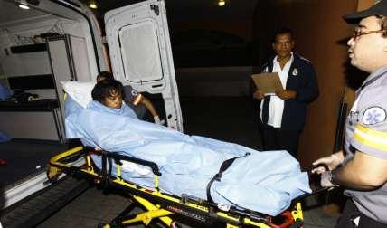La joven herida fue trasladada al Hospital Santo Tomás, donde se mantiene bajo observación médica. Foto Alexander Santamaría Crítica
