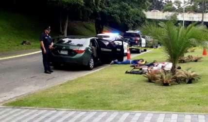 Los delincuentes fueron aprehendidos en la calzada de Amador, tras una persecución.